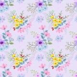 Schöne Hand gezeichnetes Blumenmuster für Gewebegewebe stock abbildung
