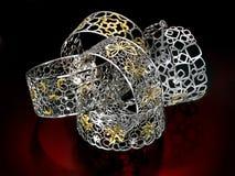 Schöne handgemachte Ringe Stockfotos