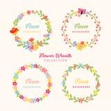 Schöne Handgezogener Blumen-Rahmen stockbilder