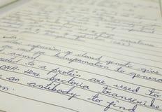 Schöne Handschrift lizenzfreie stockfotografie