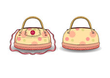 Schöne Handtasche Auch im corel abgehobenen Betrag Lizenzfreie Stockbilder