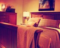 Schöne Handwerker-Bedroom Contemporary Bedroom-Architektur zu stockbilder