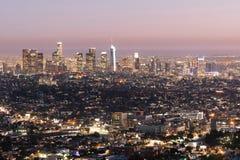 Schöne helle im Stadtzentrum gelegene Stadt-Skyline-städtische Metropole Los Angeless Kalifornien lizenzfreie stockfotografie
