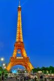 Schöne helle Show von Blinklichtern auf dem Eiffel Bache herein Lizenzfreies Stockbild