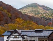 Schöne Herbstfarbjahreszeit an Hakkoda-Bereich Lizenzfreie Stockbilder