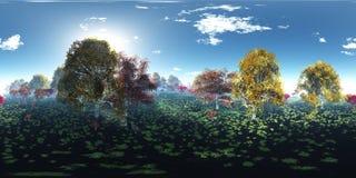 Schöne Herbstlandschaft Herbstbäume über dem Wasser lizenzfreie stockfotografie