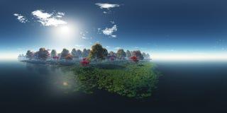 Schöne Herbstlandschaft Herbstbäume über dem Wasser