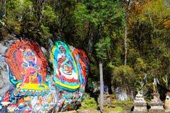 Schöne Herbstlandschaft im Hailuogou-Gletscherpark Lizenzfreie Stockfotos