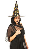 Schöne Hexefrau lizenzfreie stockfotografie