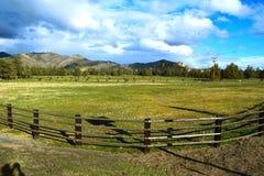 Schöne Himmel heraus am Bauernhof Lizenzfreies Stockfoto