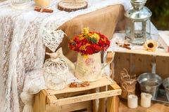 Schöne Hochzeitsdekoration lizenzfreie stockfotos