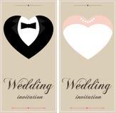 Schöne Hochzeitseinladungskarten Lizenzfreies Stockbild