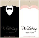 Schöne Hochzeitseinladungskarten Lizenzfreie Stockbilder