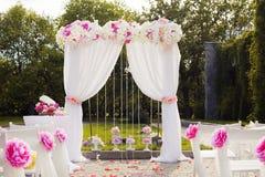 Schöne Hochzeitseinrichtung stockfoto