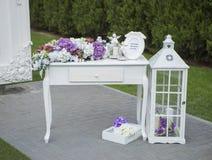 Schöne Hochzeitseinrichtung Stockfotografie
