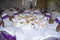 Schöne Hochzeitseinrichtung Lizenzfreies Stockfoto