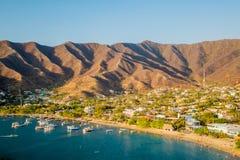 Schöne hohe Winkelsicht von Tanganga-Strand herein Lizenzfreie Stockfotografie