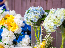 Schöne Hortensia Flower Arrangement Stockbilder