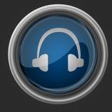 Schöne Ikone der Kopfhörer Lizenzfreie Stockbilder