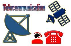 Schöne Illustration der Telekommunikation des Telekommunikationsgeräts lizenzfreie abbildung