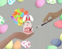 Schöne Illustration Ostern Stockfoto