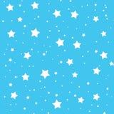 Schöne Illustration von Sternen auf Himmelblauhintergrund Stockfotos