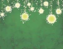 Schöne Illustrationsguten rutsch ins neue jahr bokeh Art Grüner Hintergrund vektor abbildung