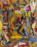 Schöne Impressionismusfarbeursprüngliches Ölgemälde mit Lizenzfreie Stockfotos