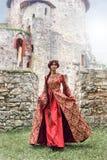 Schöne Isabella von Frankreich, Königin von England auf Mittelalterzeitraum lizenzfreie stockfotos