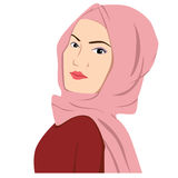 Schöne islamische Frau in Hijab vektor abbildung
