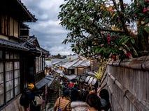 Schöne japanische Straße stockfotos