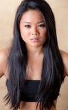 Schöne junge asiatische Frau Lizenzfreie Stockfotografie