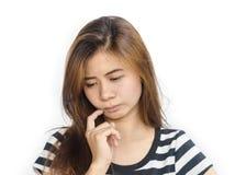 Schöne junge asiatische Frau Lizenzfreie Stockfotos