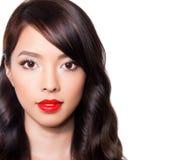 Schöne junge asiatische Frau Lizenzfreies Stockfoto