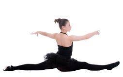 Schöne junge Ballerinafrau lizenzfreies stockbild