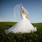 Schöne junge blonde Braut Lizenzfreie Stockbilder