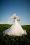 Schöne junge blonde Braut Lizenzfreie Stockfotografie
