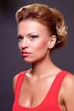Schöne junge blonde Frau Stockbild