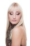 Schöne junge blonde Frau Lizenzfreie Stockfotos