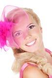 Schöne junge blonde Frau mit heller Verfassung Stockbild