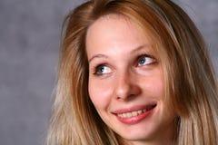Schöne junge blonde Frau. Portrait. Lizenzfreies Stockfoto