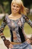 Schöne junge Blondine Lizenzfreies Stockfoto