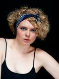 Schöne junge Blondine Stockfotografie