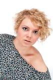 Schöne junge Blondine Stockbild