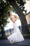 Schöne junge Braut Stockfotografie