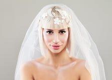 Schöne junge Braut-Frau Blondes Art und Weisebaumuster Lizenzfreie Stockfotografie