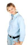 Schöne junge Dame mit Art und Weiseschmucksachen Stockfoto
