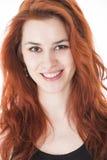Schöne junge Dame mit dem roten Haar lizenzfreie stockfotografie