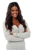 Schöne junge Frau in der fantastischen Kleidung Lizenzfreie Stockfotografie