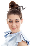 Schöne junge Frau des Porträts Lizenzfreie Stockfotografie